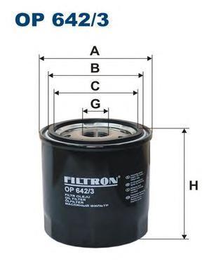 Масляный фильтр Filtron OP6423OP6423Фильтр масляный NISSAN/RENAULT 1.5D-3.0D 08- Nissan Navara, Pathfinder; Renault Laguna III, Megane CC, Megane III, Scenic III