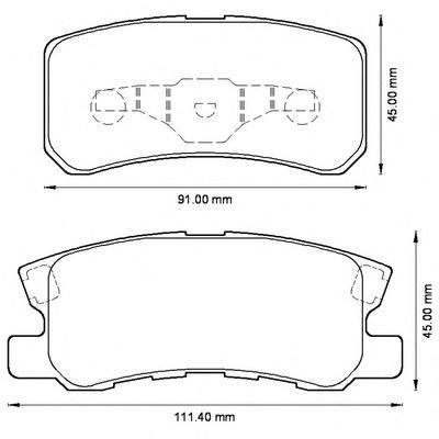 Колодки тормозные дисковые 4 шт, задние Jurid 572498J572498J