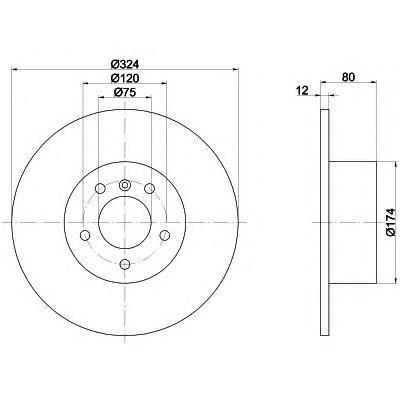 Диск тормозной задний Textar 92107403 комплект 2 шт92107403