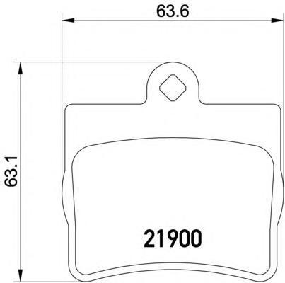 Колодки тормозные дисковые, 4 шт Textar 21900032190003