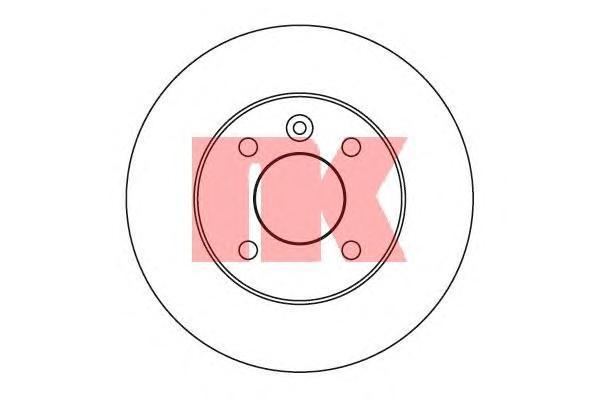 Диск тормозной NK 203633 комплект 2 шт203633