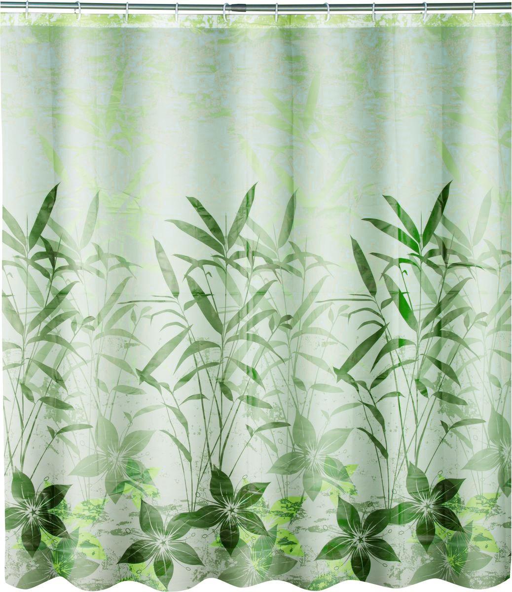 Штора для ванной Swensa Grass, цвет: зеленый, 180 х 180 смSWC-50-01Штора для ванной Swensa Grass выполнена из такого материала как ПЕВА и EVA (вспененный этиленвинилацетат) и оформлена оригинальным рисунком. Она надежно защитит от брызг и капель пространство вашей ванной комнаты в то время, пока вы принимаете душ. В верхней кромке шторы предусмотрены отверстия для пластиковых колец, которые входят в комплект.Количество колец: 12 шт.