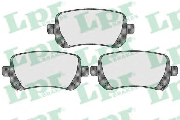 Колодки тормозные задние LPR / AP 05P155005P1550