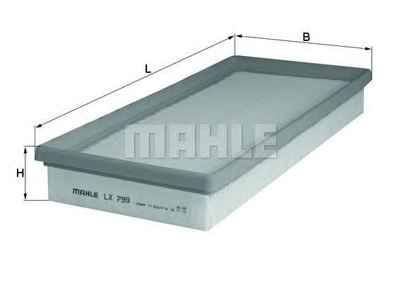 Фильтр воздушный Mahle/Knecht LX799LX799