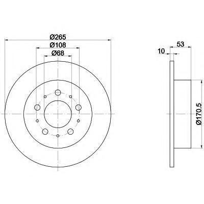 Диск тормозной BEHR-HELLA 8DD355102261 комплект 2 шт8DD355102261