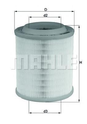 Фильтр воздушный Mahle/Knecht. LX1275LX1275