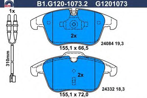 Колодки тормозные Galfer B1G12010732B1G12010732