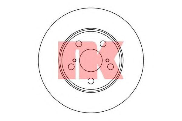 Диск тормозной NK 204564 комплект 2 шт204564