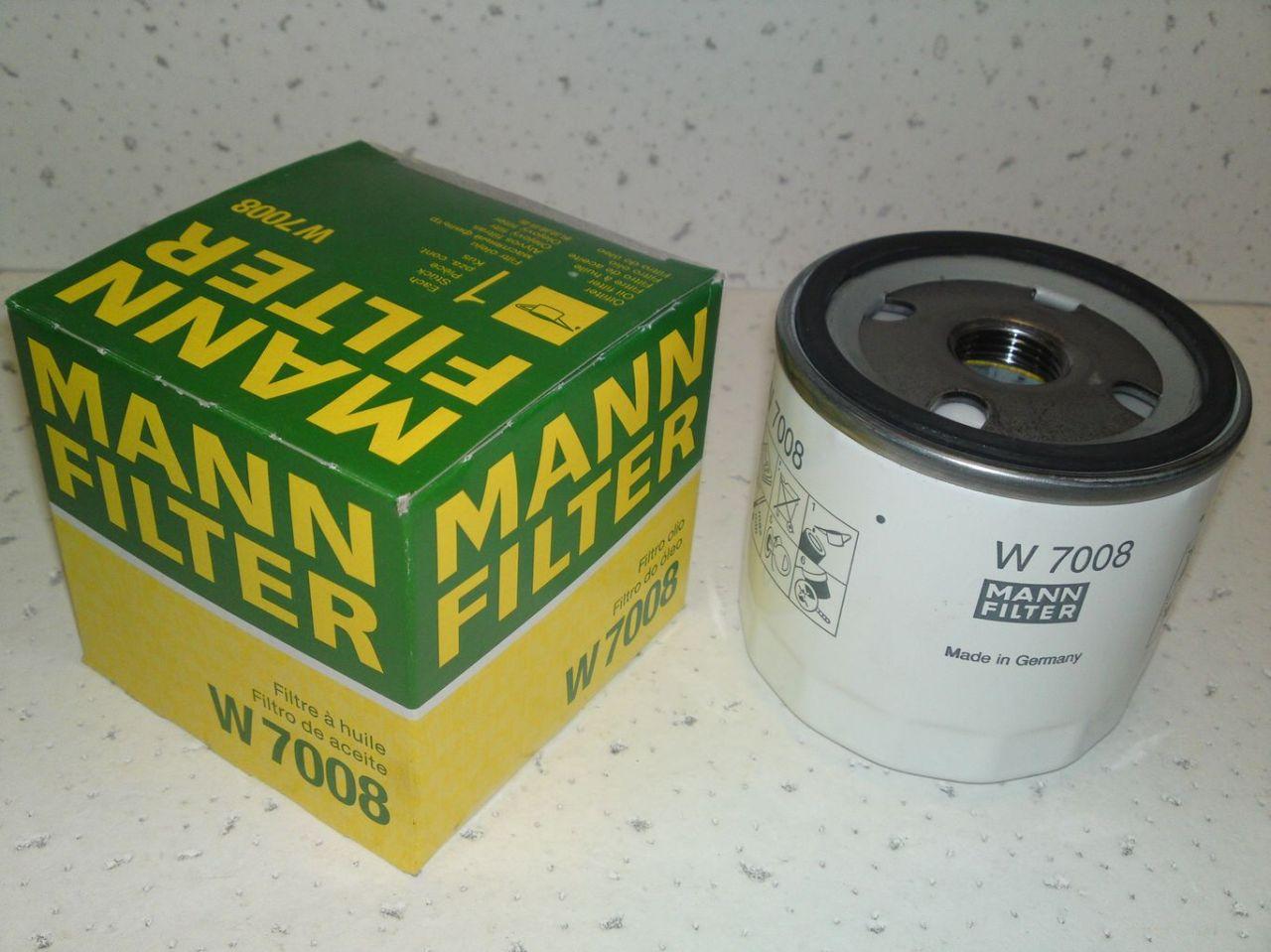 Масляный фильтр Mann-Filter W7008W7008