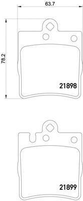 Колодки тормозные дисковые, комплект BEHR-HELLA 8DB3550084518DB355008451