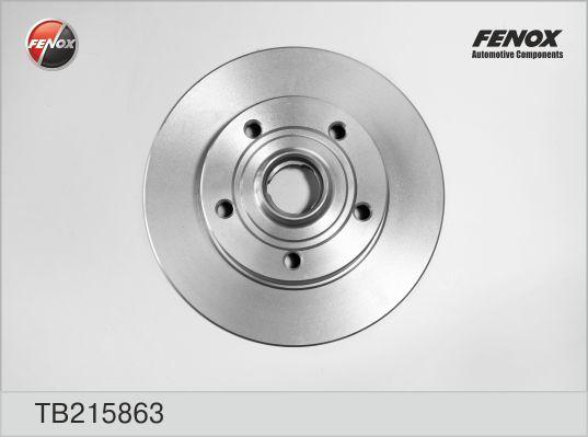Диск тормозной Fenox TB215863TB215863
