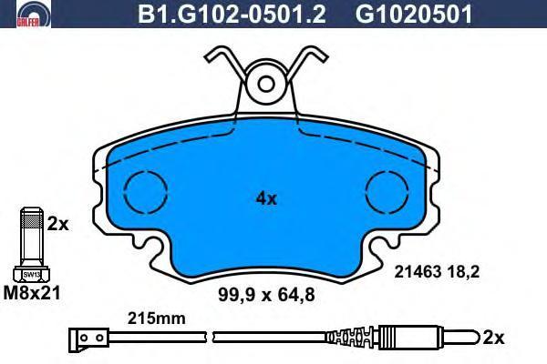 Колодки тормозные дисковые Galfer B1G10205012B1G10205012