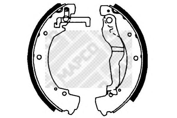 Колодки тормозные барабанные Mapco 88318831