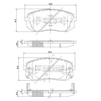 Колодки тормозные передние Nipparts N3600330N3600330