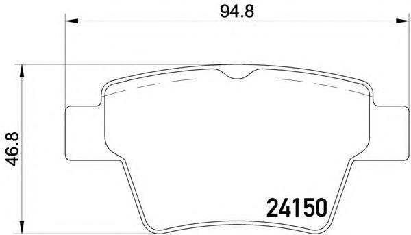 Колодки тормозные дисковые, комплект BEHR-HELLA 8DB3550118218DB355011821