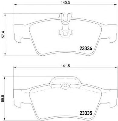 Колодки тормозные дисковые, комплект BEHR-HELLA 8DB3550187518DB355018751