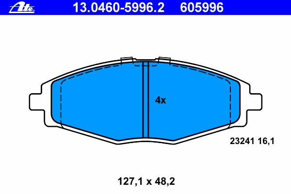 Колодки тормозные дисковые Ate 1304605996213046059962