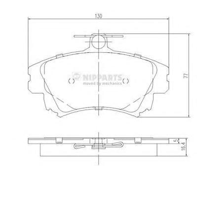 Колодки тормозные передние Nipparts J3605042J3605042