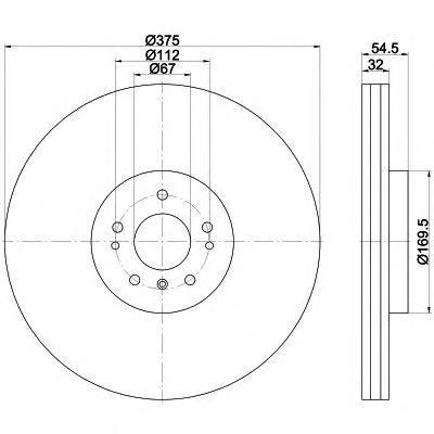 Диск тормозной передний вентилируемый Textar 9217660392176603