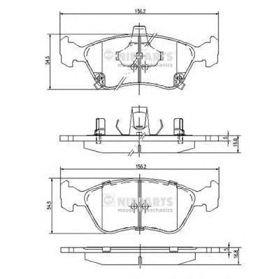 Колодки тормозные передние Nipparts J3602080J3602080