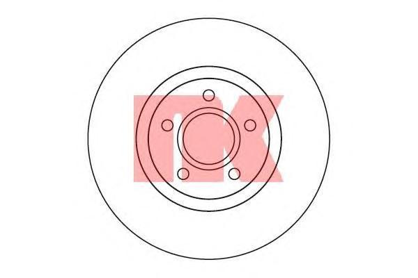 Диск тормозной NK 204849 комплект 2 шт204849