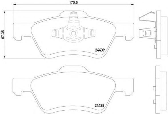 Колодки тормозные передние Textar 24439012443901