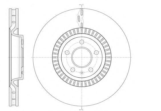 Диск тормозной передний вентилируемый[356x34] 5 отв Remsa 61446106144610