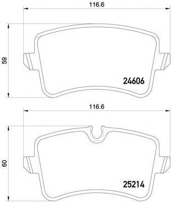 Колодки тормозные задние Textar 25214012521401