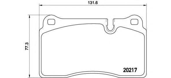 Колодки тормозные передние Brembo P44018P44018