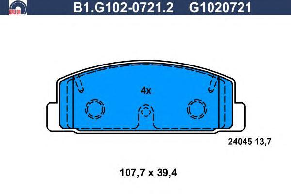 Колодки тормозные дисковые Galfer B1G10207212B1G10207212
