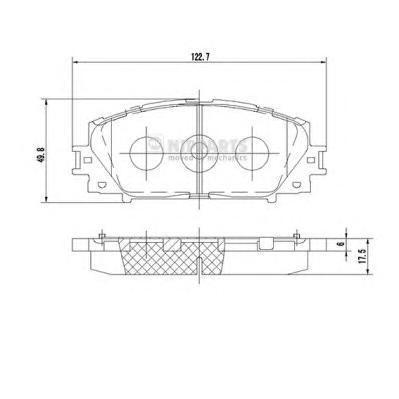 Колодки тормозные Nipparts N3602127N3602127