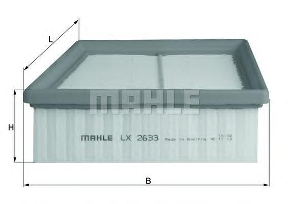 Фильтр воздушный Mahle/Knecht LX2633LX2633