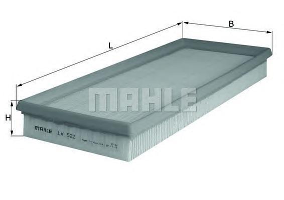 Фильтр воздушный Mahle/Knecht LX522LX522