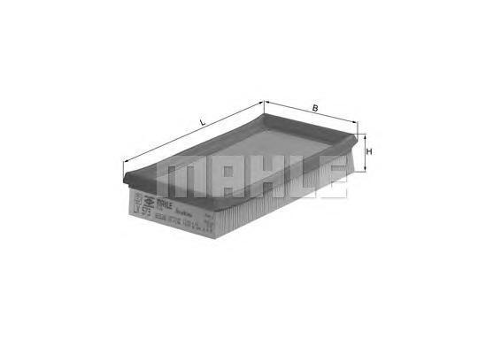 Фильтр воздушный Mahle/Knecht LX573LX573