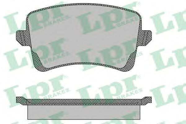 Колодки тормозные задние LPR / AP 05P148905P1489