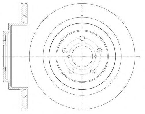 Диск тормозной задний вентилируемый Remsa 61001106100110