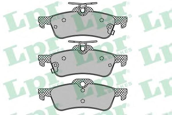 Колодки тормозные задние LPR / AP 05P145805P1458