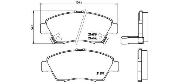 Колодки тормозные передние Brembo P28023P28023