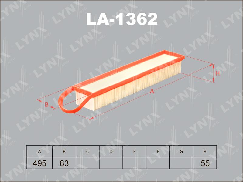 Фильтр воздушный Lynx LA1362LA1362