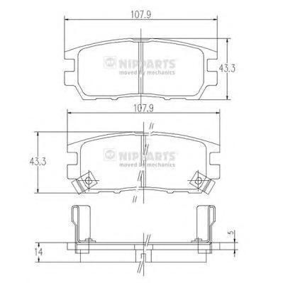 Колодки тормозные задние Nipparts J3615005J3615005