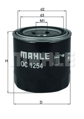 Фильтр масляный Mahle/Knecht OC1254OC1254