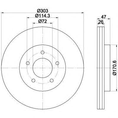 Textar Диск тормозной передний. 9219770392197703