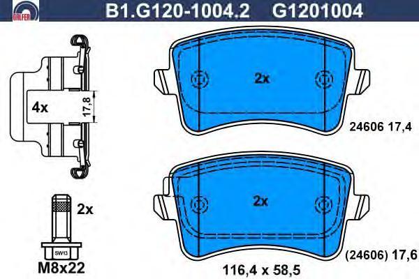 Колодки тормозные дисковые Galfer B1G12010042B1G12010042
