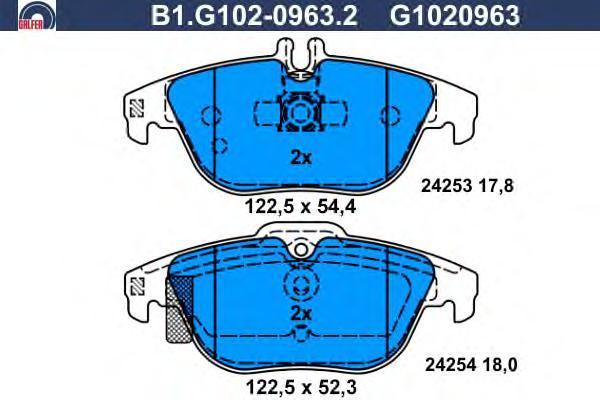 Колодки тормозные Galfer B1G10209632B1G10209632
