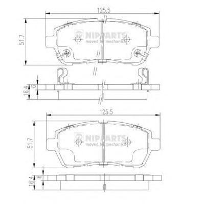 Колодки тормозные дисковые Nipparts N3606022N3606022