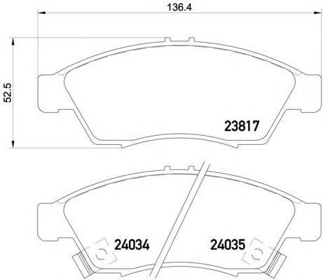 Колодки тормозные дисковые, 4 шт Textar 23817012381701