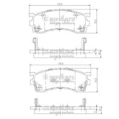 Колодки тормозные передние Nipparts J3603038J3603038