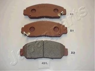 Колодки тормозные дисковые Japanparts PA491AFPA491AF