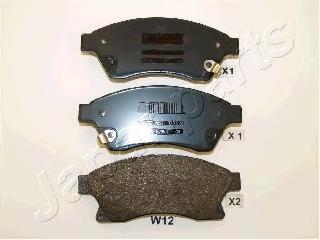 Колодки тормозные дисковые Japanparts PAW12AFPAW12AF