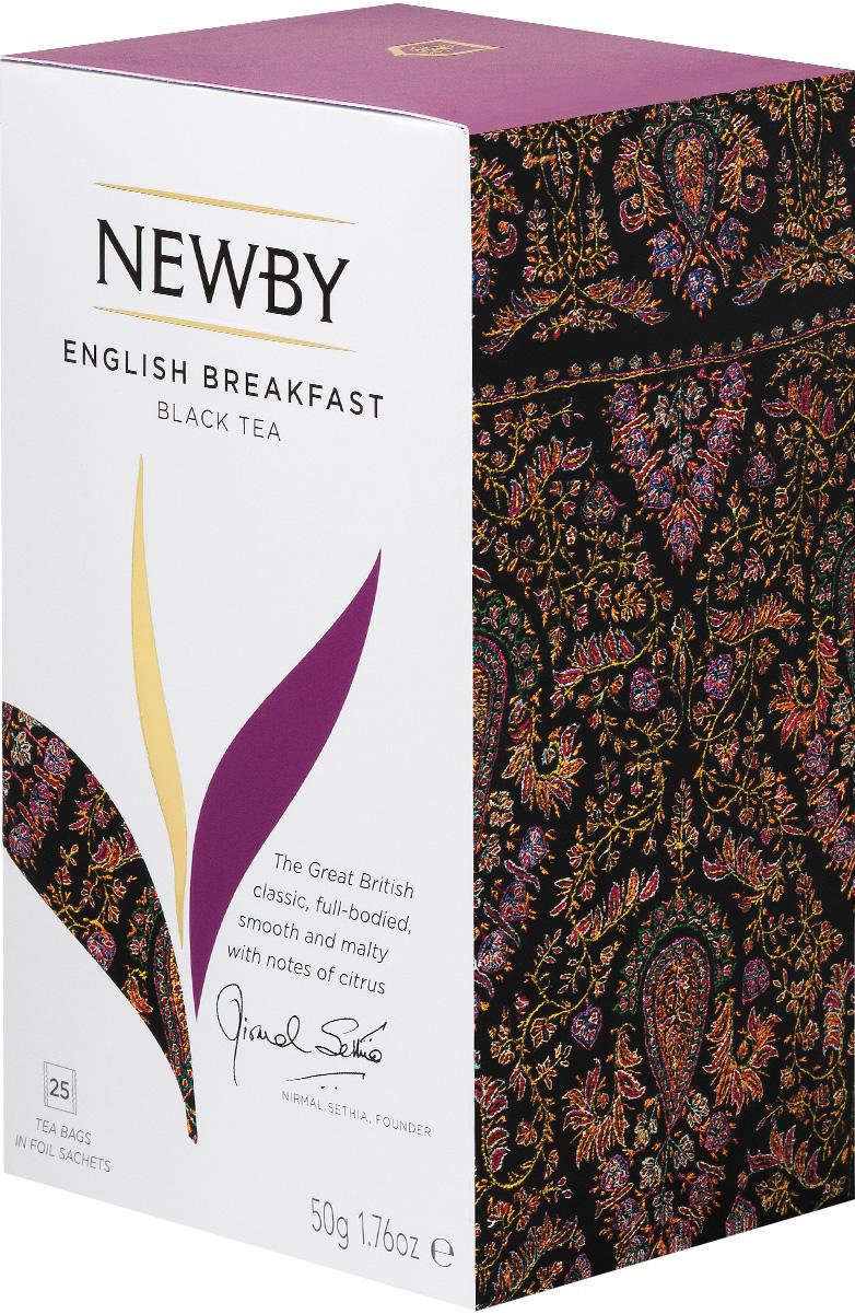 где купить  Newby English Breakfast черный чай в пакетиках, 25 шт  по лучшей цене